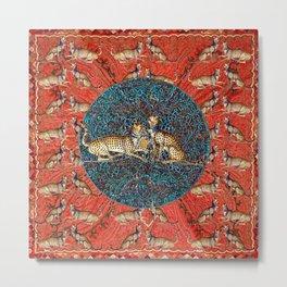 De Grassi Cheetah Pattern I Metal Print