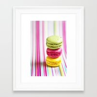 macarons Framed Art Prints featuring MACARONS by Ylenia Pizzetti