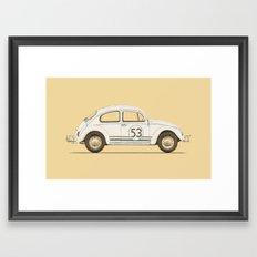 Famous Car #4 - VW Beetle Framed Art Print