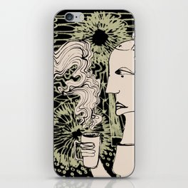 Cafe Drawing iPhone Skin