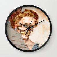 ginger Wall Clocks featuring GINGER by Julia Lillard Art