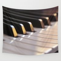 piano Wall Tapestries featuring Piano by Herzensdinge
