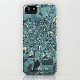 Lublin, Poland - Cream Blue iPhone Case