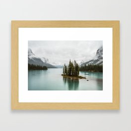 Emerald Spirit Island | Landscape Photography | Maligne Lake | Jasper Alberta Framed Art Print