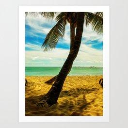 Beach Scene 2 Art Print
