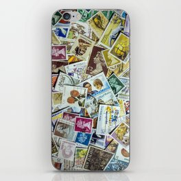 Postage Stamp Collection iPhone Skin