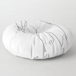 sk8 girl Floor Pillow