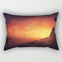 man reaching goals Rectangular Pillow