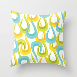 Mod Loop White Throw Pillow