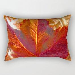 maple leaf. Autumn in Zamora. Spain Rectangular Pillow
