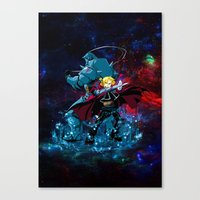 fullmetal alchemist Canvas Prints featuring Two Alchemist by BradixArt