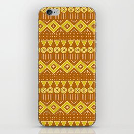 Mudcloth Style 2 in Burnt Orange and Yellow iPhone Skin