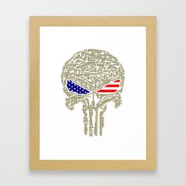 Skull united states Framed Art Print