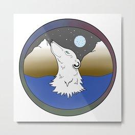 Cosmic Polar Bear Metal Print