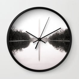 Washington Monument in the Mist - Washington D.C. Wall Clock