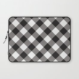 Gingham - Black Laptop Sleeve