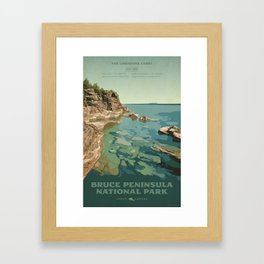 Bruce Peninsula National Park Framed Art Print