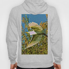 Neon Egret in Flight Hoody