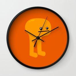 Orange Leggy Wall Clock