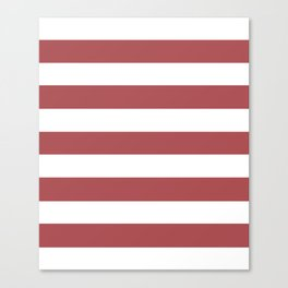 Rose vale - solid color - white stripes pattern Canvas Print