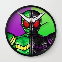 Kamen Rider Double Cyclone/Joker Wall Clock