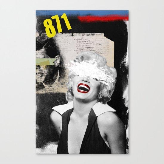 Public Figures , Marilyn Canvas Print
