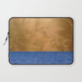 Copper Metallic With Tuscan Blue Stripe Trim - Corbin Henry Laptop Sleeve
