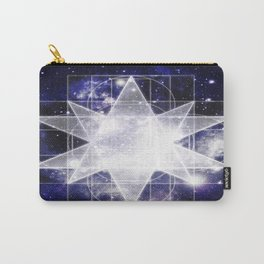 Sacred Geometry : Dark Blue Galaxy Carry-All Pouch