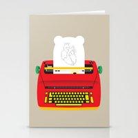 typewriter Stationery Cards featuring Typewriter by EinarOux