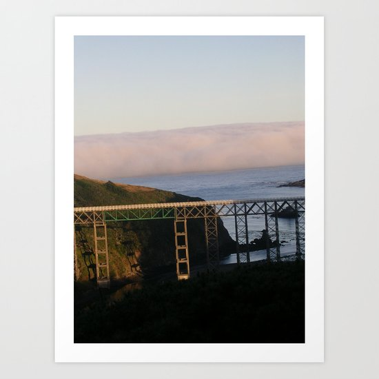 And then the fog rolled in.... Art Print
