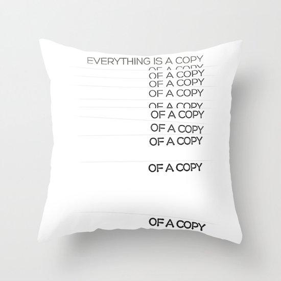COPY Throw Pillow