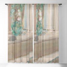 "John Singer Sargent ""Tarragona Terrace and Garden"" Sheer Curtain"
