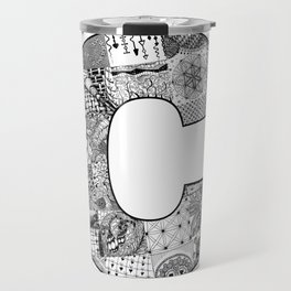 Cutout Letter C Travel Mug