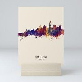 Santorini Skyline Mini Art Print