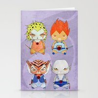thundercats Stationery Cards featuring A Boy - A Girl - Thundercats by Christophe Chiozzi