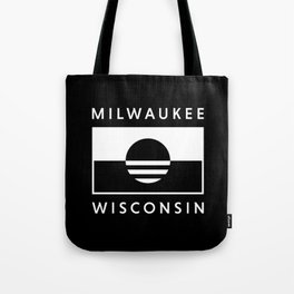 Milwaukee Wisconsin - Black - People's Flag of Milwaukee Tote Bag