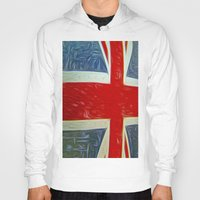 union jack Hoodies featuring  Union jack Flag by  Alexia Miles photography