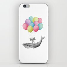 Whale With Balloons -  colorful iPhone & iPod Skin