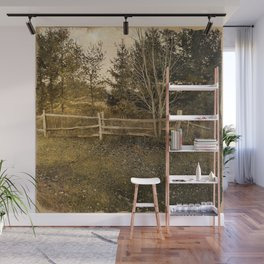 Frail Fall Fence Wall Mural