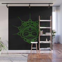 Grass Frog Ink Wall Mural