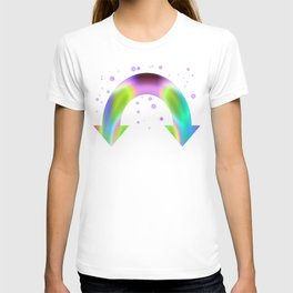 rainbow reactive T-shirt