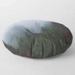 Into the Deep, Foggy, Forest Floor Pillow