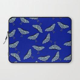 Lunar Moths Blue Laptop Sleeve