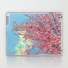 Spring pink flowers. Vintage Laptop & iPad Skin