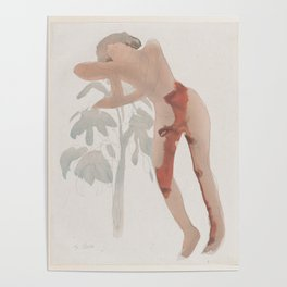 Auguste Rodin Nude Figure Lithograph #5 Poster