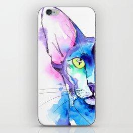 Oriental Cat Watercolor iPhone Skin