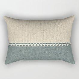 Texture Taupe and Grey Green Pattern Rectangular Pillow