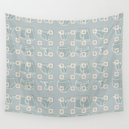 Underwear Grey Color Wall Tapestry