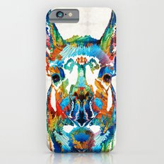 Colorful Llama Art - The Prince - By Sharon Cummings Slim Case iPhone 6