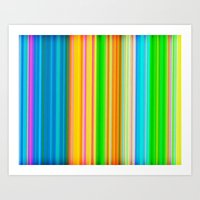 stripe Art Prints featuring stripe by AmeliaPeelArt